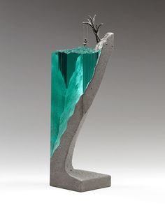 Glass and concrete sculptures