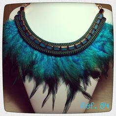 Collar plumas tye dye
