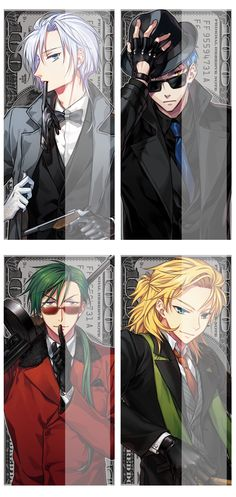Akatsuki no yona The four dragons as... Gangsters?? Shin-ah and Kija look amazing ohmygosh