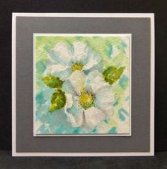 White Flowers card by hobbydujour - Cards and Paper Crafts at Splitcoaststampers