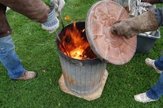 raku firing- I love to fire pottery this way!!