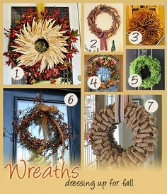 7 Wreath Ideas For Fall · Home and Garden | CraftGossip.com
