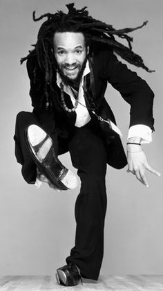 "Savion Glover, American tap dancer, actor, & choreographer. A prodigy, he was taught by notable dancers from previous generations, including Gregory Hines. His noted choreographed pieces include Bring in 'Da Noise, Bring in 'Da Funk (for which he won a Tony), Savion Glover's Nu York, & Stomp, Slide, & Swing. His interest is to restore African roots to tap, and to put tap back into the contemporary Black context. Gregory Hines once stated that he is ""possibly the best tap dancer that ever…"