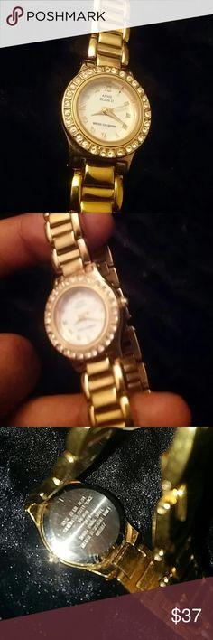 ⌚✨ Anne Klein Women's Watch Anne Klein Gold Plated Watch . Lovely Crystal Bezel. Awesome watch . MAKE A OFFER ! Anne Klein Accessories Watches