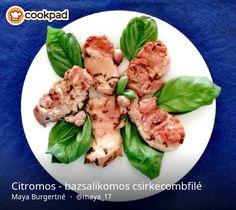 Citromos - bazsalikomos csirkecombfilé Asparagus, Meat, Chicken, Vegetables, Food, Studs, Essen, Vegetable Recipes, Meals