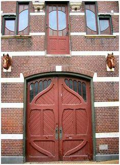Very nice garage or service door in the Netherlands