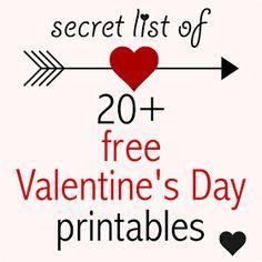 MeinLilaPark – digital freebies: Secret list of free printable valentines - valentine printables - Valentine's Day Downloads