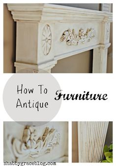 How to antique furniture.  Antiqued furniture using chalk paint, mineral spirits, Annie Sloan's clear and dark wax.