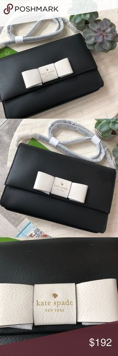 Spotted while shopping on Poshmark: Kate Spade Black Bow Cross Body! #poshmark #fashion #shopping #style #kate spade #Handbags