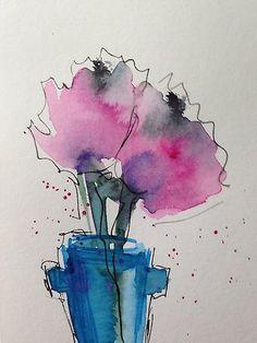 """Kaufe """"zwei Blumen"""" von Britta75 auf folgenden Produkten: T-Shirt, Classic T-Shirt, Vintage T-Shirt, Leichter Hoodie, Tailliertes Rundhals-Shirt, Shirt mit V-Ausschnitt, Baggyfit T-Shirt, Grafik T-Shirt, Chiffontop für Frauen, Kontrast Top..."""