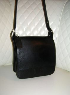 I'm auctioning '4 Vintage COACH Black Leather Patricia Legacy Saddle Flap Bag ' on #tophatter