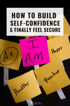 Learn how to build self-confidence and finally feel secure. Change your thoughts from I can't to I can. Negative Self Talk, Negative Thoughts, Self Confidence, Confidence Building, Learning To Love Yourself, Feeling Overwhelmed, Self Esteem, Self Improvement, Self Help