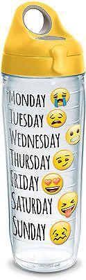 Tervis 24 oz. Emoji Days Water Bottle 24 oz. Water Bottle