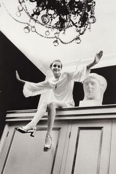 Twiggy photographed by Cecil Beaton, 1967.