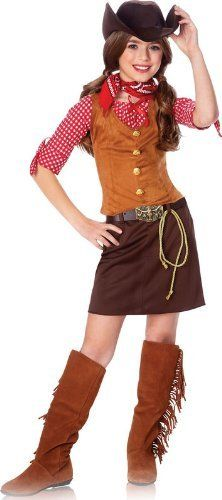 kids western cowgirl outfit girls halloween costume l girls large 12 14 by