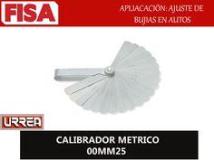CALIBRADOR METRICO 00MM25. Aplicación ajuste de bujias en autos- FERRETERIA INDUSTRIAL -FISA S.A.S Carrera 25 # 17 - 64 Teléfono: 201 05 55 www.fisa.com.co/ Twitter:@FISA_Colombia Facebook: Ferreteria Industrial FISA Colombia