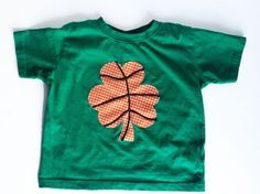 4T ready to ship - St. Patrick's Day Basketball Shamrock, Green T-Shirt kids and toddlers on Etsy, $20.00