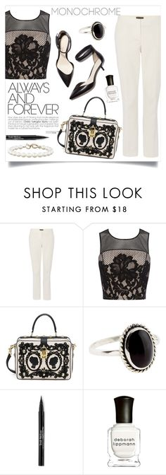 """""""Monochromatic chic!"""" by anchilly23 ❤ liked on Polyvore featuring Vince Camuto, 3.1 Phillip Lim, Coast, Dolce&Gabbana, Accessorize, Trish McEvoy, Deborah Lippmann and Tiffany & Co."""