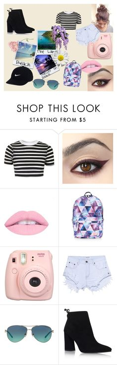 """""""-Polaroids-"""" by blackashes on Polyvore featuring Topshop, Accessorize, Fujifilm, One Teaspoon, Tiffany & Co., Stuart Weitzman and NIKE"""