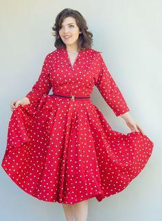 Vintage 50er Jahre Kleid  schwingen  mich von WildHoneyPieVintage