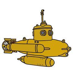 Yellow submarine Stock Photos, Royalty Free Yellow submarine Images Yellow Submarine, Art Pages, Staging, Vector Art, Disney Characters, Fictional Characters, Royalty Free Stock Photos, Cartoon, Illustration