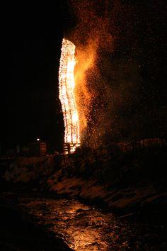 Das Bild zeigt den Funken in Silbertal im Montafon