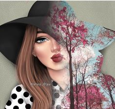 Girly M, Girly Girl, Girly Drawings, Cool Drawings, Sarra Art, Pics For Dp, Islamic Girl, Girls Time, Girly Pictures