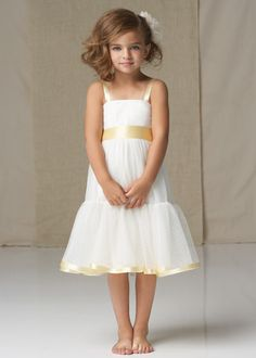 flower girl dresses for 11 yrs old | Simple, yet beautiful. The satin ribbon detail can be suited to ...