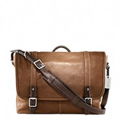Harrison Messenger Bag, Coach. --I love seeing a man with a leather satchel. Maybe for Rocky next Christmas...