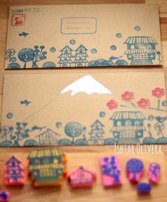 Japanese inspired stamps ishtar olivera