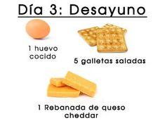 bajar-de-peso-en-3-dias-desayuno-3 Military Diet, Diet Menu, Smoothies, Easy Meals, Health Fitness, Food And Drink, Nutrition, Weight Loss, Cooking
