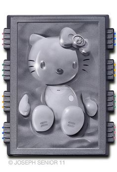Hello Han in Carbonite (and other pop culture Hello Kitty designs by yodaflicker (Joseph Senior) Peluche Hello Kitty, Hello Kitty Toys, Hello Kitty Art, Hello Kitty Characters, Sanrio Characters, Star Wars Characters, Chewbacca, Captain America, Movie Decor
