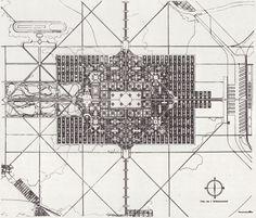 Le Corbusier, plan for a city of 3 million inhabitants 1922