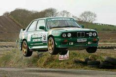 BMW E30 M3 green rally