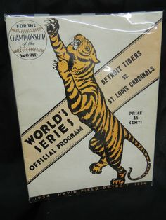 Vintage RARE Detroit Tigers Baseball MLB World Series Program 1934 Navin Field