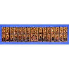 Fünfzehnflügelige Reiseikonostase Russland um 1700Vorv� Russian Art, Russia, Father, Auction, Viajes