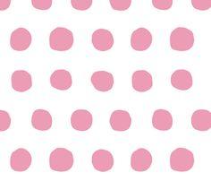 Jumbo Dots in peony/white fabric by domesticate on Spoonflower - custom fabric
