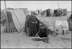 March Republican soldiers in an internment camp for Spanish refugees. (From the Mexican Suitcase)//Robert Capa Nerja Spain, Guernica, Magnum Photos, Civilization, Old Photos, Outdoor Gear, Spanish, Camping, War