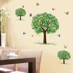 SHARE & Get it FREE | Stylish Three Trees Pattern Wall Sticker For Bedroom…