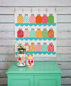 This looks like an 'I spy' quilt opportunity! I have so many cute, cute fabrics hanging around just waiting for something like this.