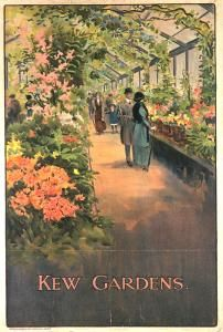 Kew Gardens, by Charles Sharland, 1910 Published by Underground Electric Railways Company Ltd, 1910 Printed by Waterlow & Sons Ltd, Dimensions: Width: 508mm, Height: 762mm. Collection of London Transport Museum.