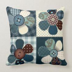 Patchwork Quilt Patterns, Patchwork Cushion, Crazy Patchwork, Patchwork Quilting, Quilted Pillow, Patchwork Ideas, Patchwork Designs, Quilting Patterns, Quilting Ideas