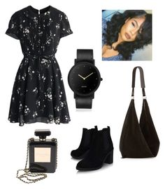 """""""Black"""" by eupastiche on Polyvore featuring Chicwish, Topshop, South Lane, The Row and Chanel"""