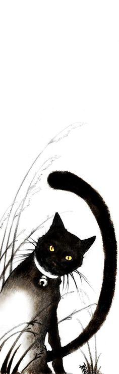Chat - marque-page à imprimer - cat