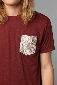 Europe Map Pocket Tee - Urban Outfitters