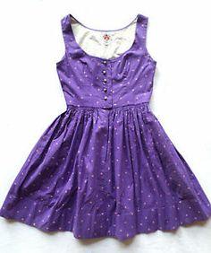 Vintage XS Original Lanz Salzburg-Wien Innsbruck of Austria Dress, Purple,Flower. $29.99