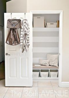 perfect for laundry closet, just take the door off completely