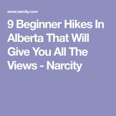 9 Beginner Hikes In Alberta That Will Give You All The Views - Narcity