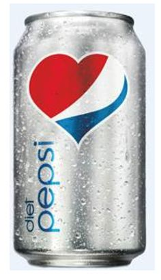 Diet Pepsi Heart Can