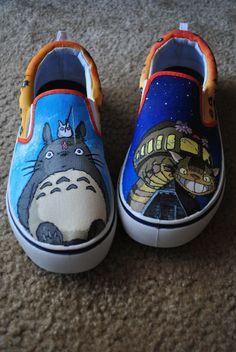 Custom Shoes My Neighbor Totoro by TulaczFineArts on Etsy, $125.00